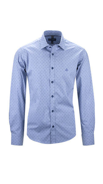 Picture of BLUE SHIRT WITH MINIMUM DESIGN