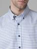 Picture of Men's plaid cotton shirt, button down collar, slim fit