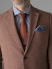 Picture of Cotton linen blazer jacket with beehive jacquard