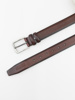 Picture of Men's brown leather belt with metal buckle
