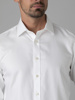 Picture of Men's cotton white shirt with double cuffs