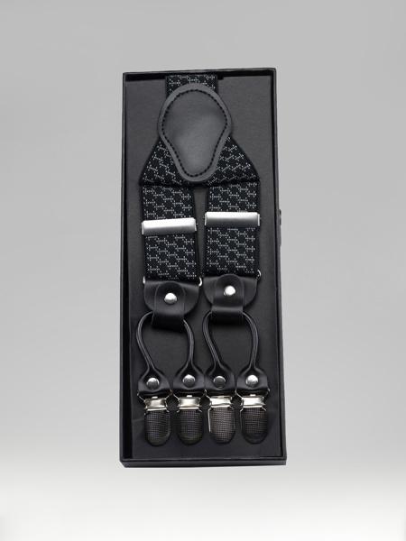 Picture of Men's adjustable braces suspenders Y-back, metal clips