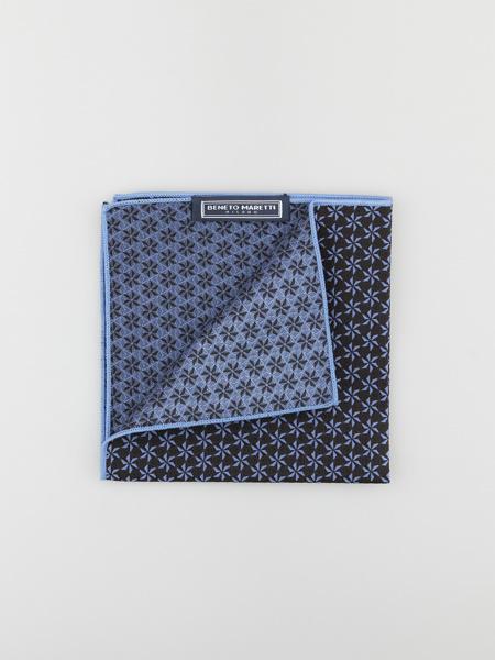Picture of Men's black jacquard pocket square hanky