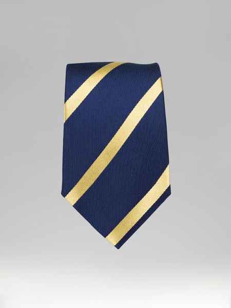 Picture of MEN'S SILK STRIPPED TIE BLUE/GOLD