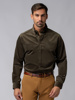 Picture of Men's corduroy khaki shirt