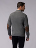 Picture of Men's knit high neck cardigan, zip opening and two front pockets