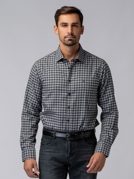 Picture of Men's cotton flannel plaid shirt