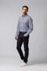 Picture of Men's cotton shirt in small plaid check jacquard