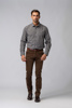 Picture of COFFEE COTTON TROUSERS