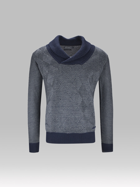 Picture of TWO-COLOR KNITTED BLOUSE