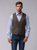 Picture of BEIGE WOOL CHECK VEST