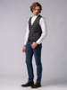 Picture of GREY CHECK VEST