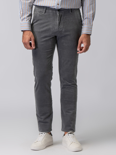 Picture of MEN'S CORD TROUSERS GREY