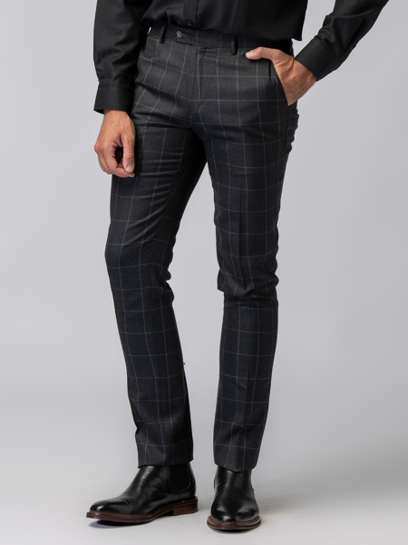 Picture of Men's wool mix checked pants