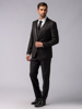 Picture of Wool super100s suit with detachable satin lapel blazer