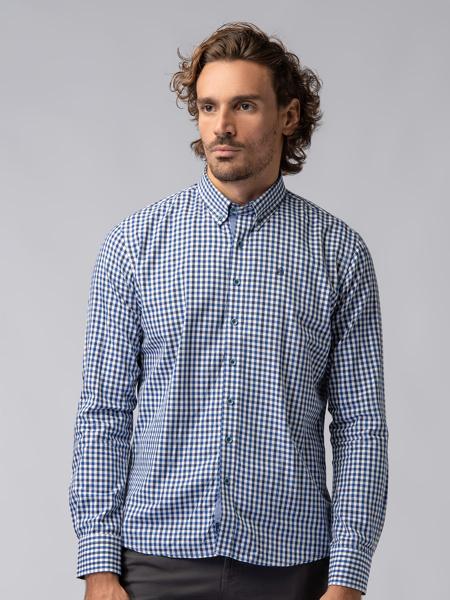 Picture of Men's plaid check shirt button down