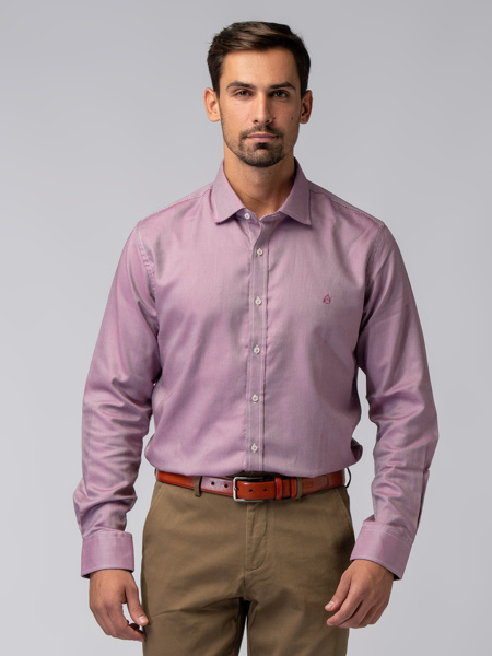Picture of Men's shirt with small polka jacquard