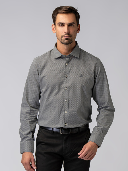 Picture of Men's plain colour shirt in small stripes