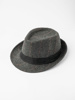 Picture of Man's trilby hat in wool mix contrast stripes
