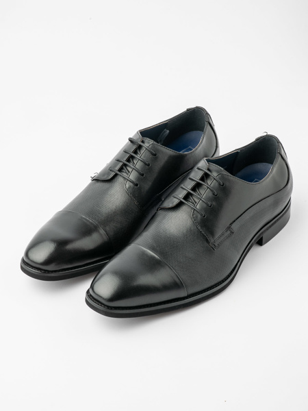 Picture of Men's patent leather shiny derby shoes