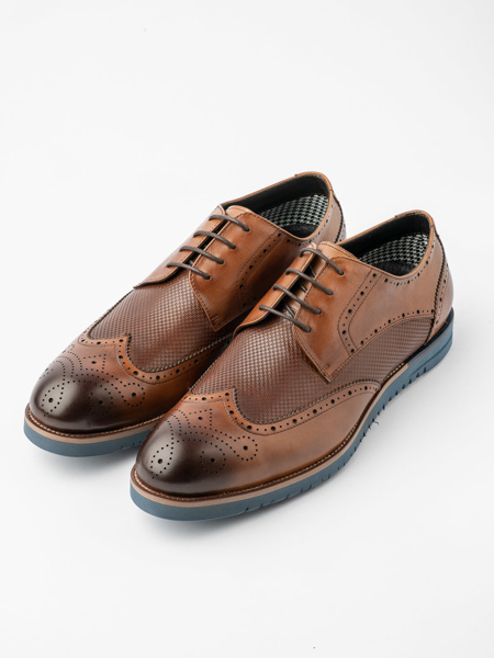 Picture of Men's leather brogue derby shoes