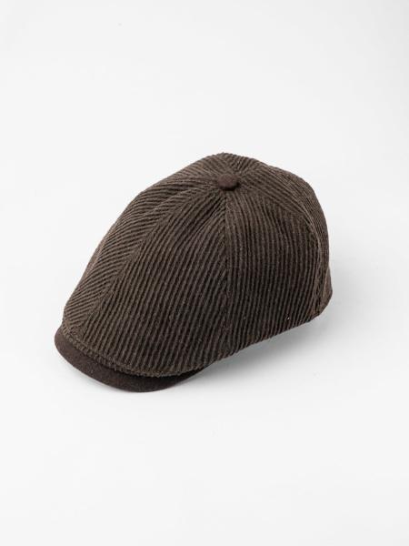 Picture of Men's corduroy newsboy ascot hat