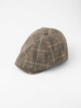 Picture of Men's check newsboy ascot hat